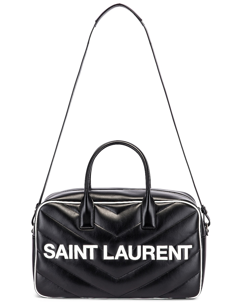 Image 5 of Saint Laurent Medium Bowling Bag in Black & White