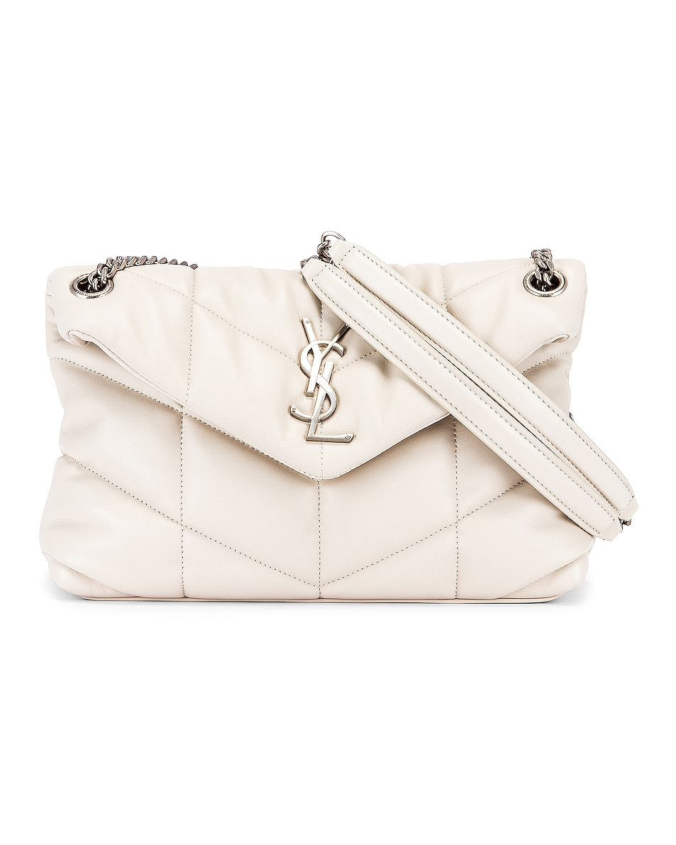Image 1 of Saint Laurent Small Monogramme Puffer Loulou Shoulder Bag in Crema Soft