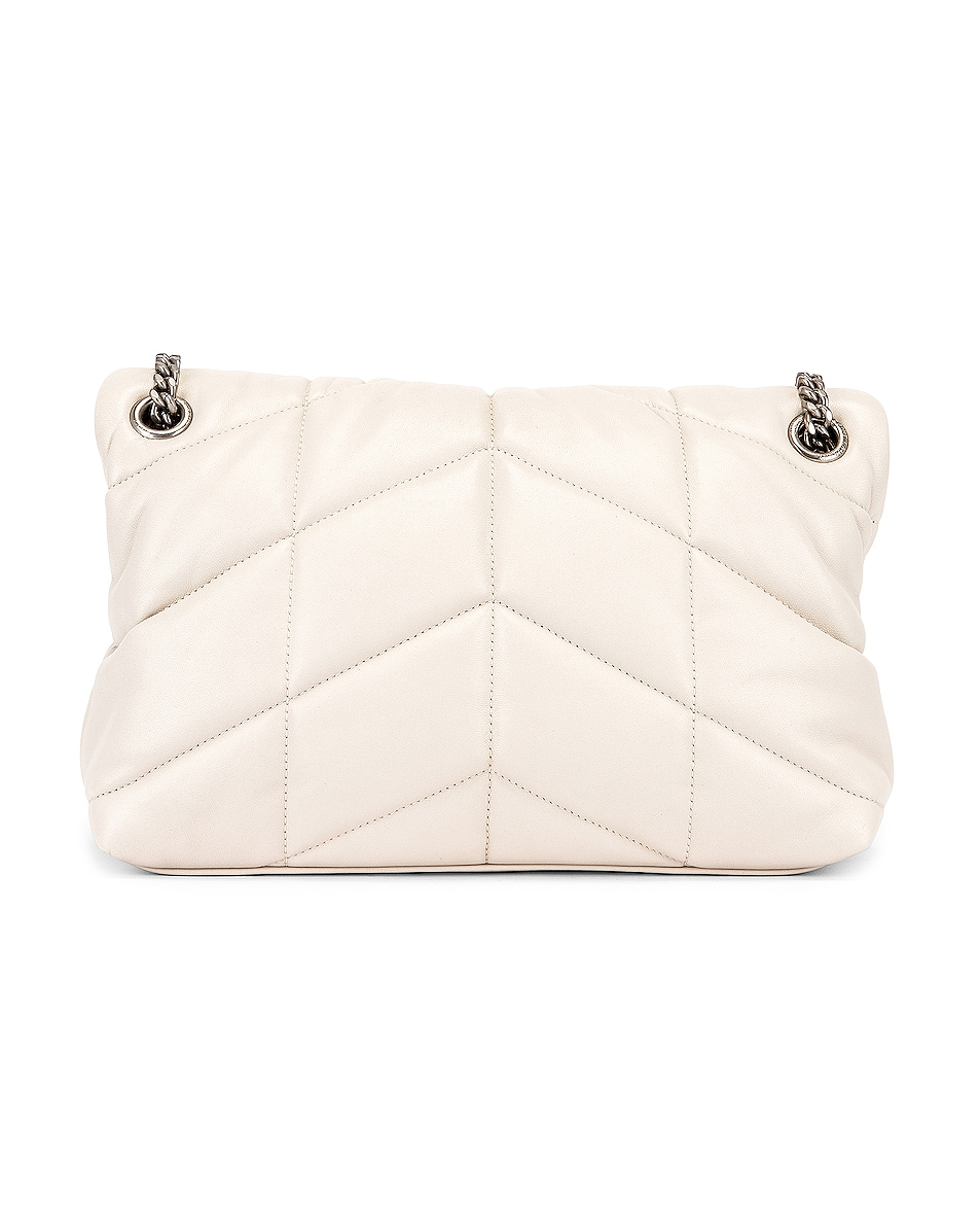 Image 3 of Saint Laurent Small Monogramme Puffer Loulou Shoulder Bag in Crema Soft