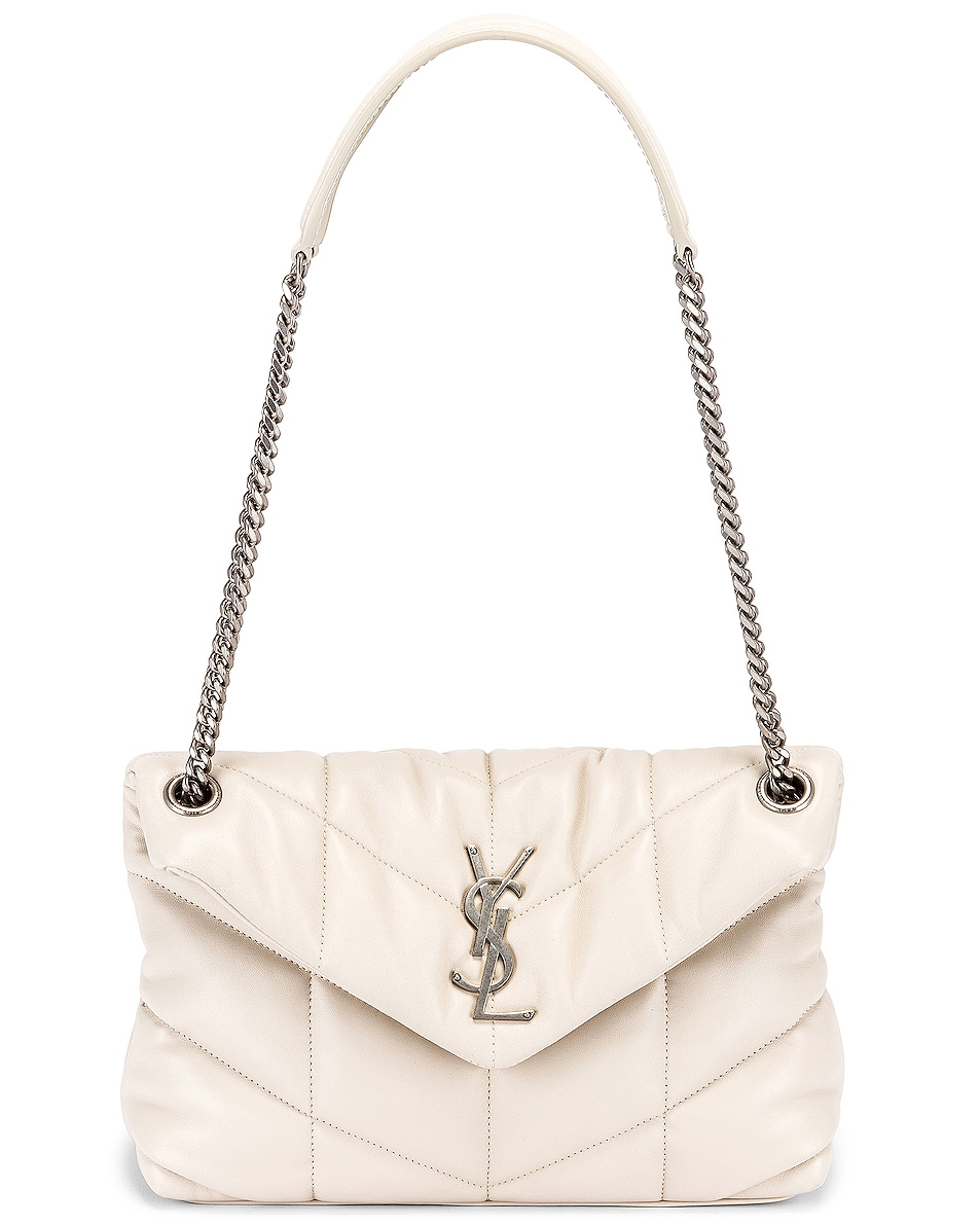 Image 6 of Saint Laurent Small Monogramme Puffer Loulou Shoulder Bag in Crema Soft