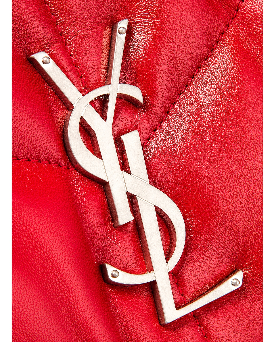 Image 8 of Saint Laurent Small Monogramme Puffer Loulou Shoulder Bag in Red