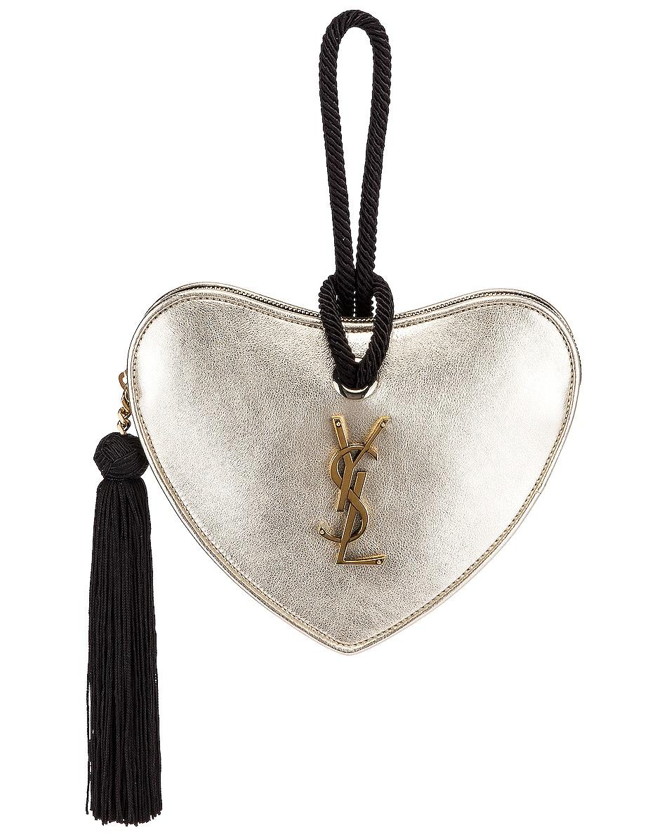 Image 1 of Saint Laurent Sac Coeur Bag in Platino & Black