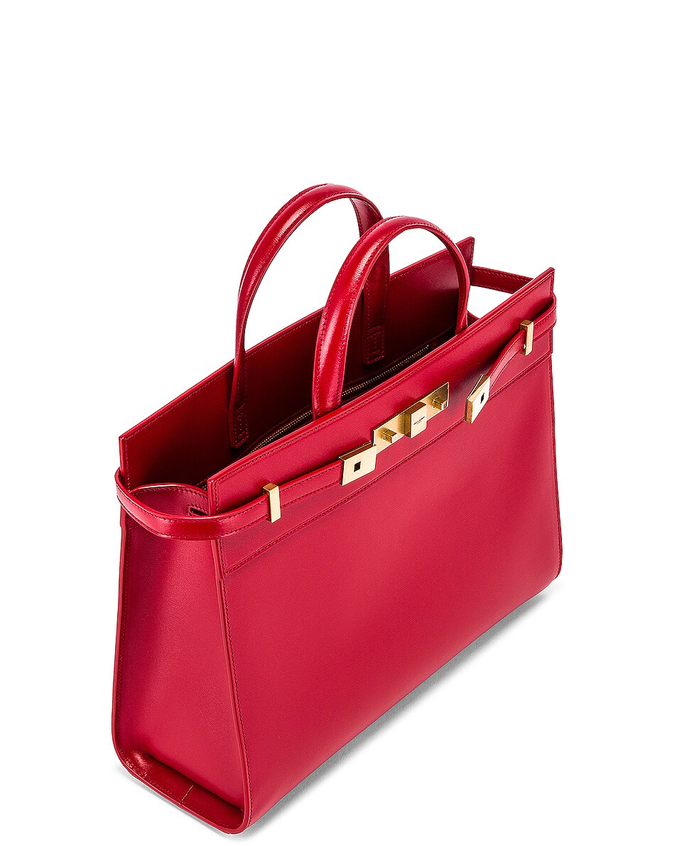 Image 5 of Saint Laurent Small Manhattan Shopping Bag in Red