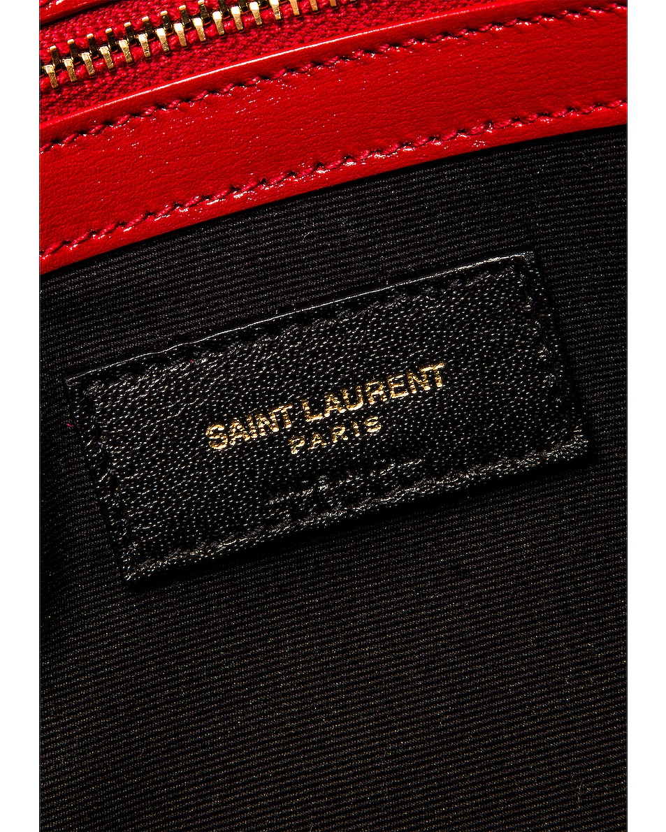 Image 7 of Saint Laurent Small Manhattan Shopping Bag in Red