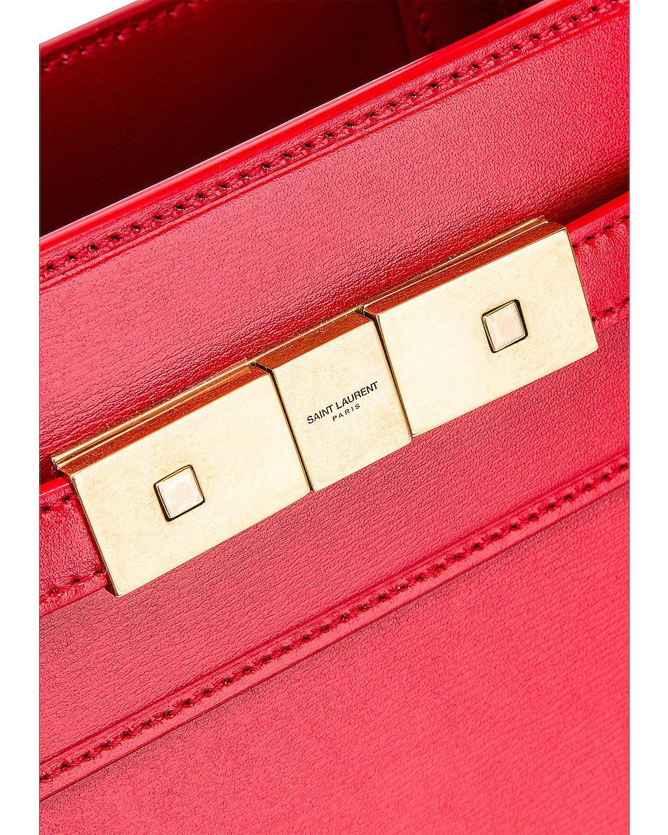 Image 8 of Saint Laurent Small Manhattan Shopping Bag in Red