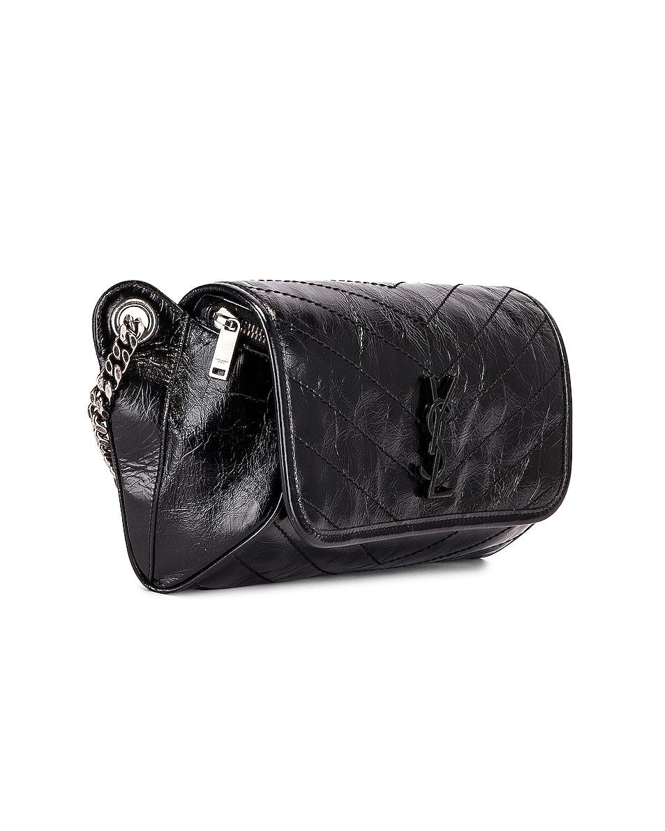 Image 4 of Saint Laurent Monogramme Niki Body Bag in Black