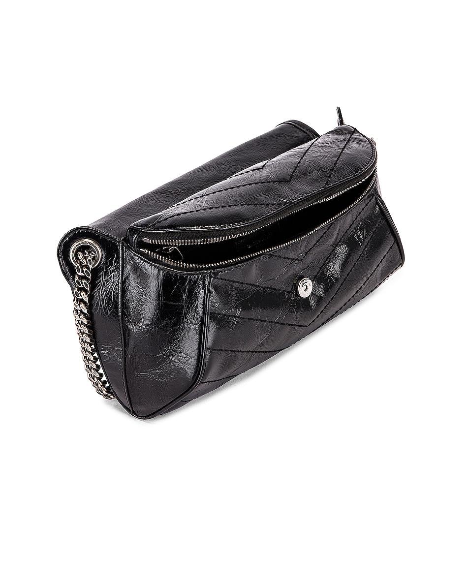 Image 5 of Saint Laurent Monogramme Niki Body Bag in Black