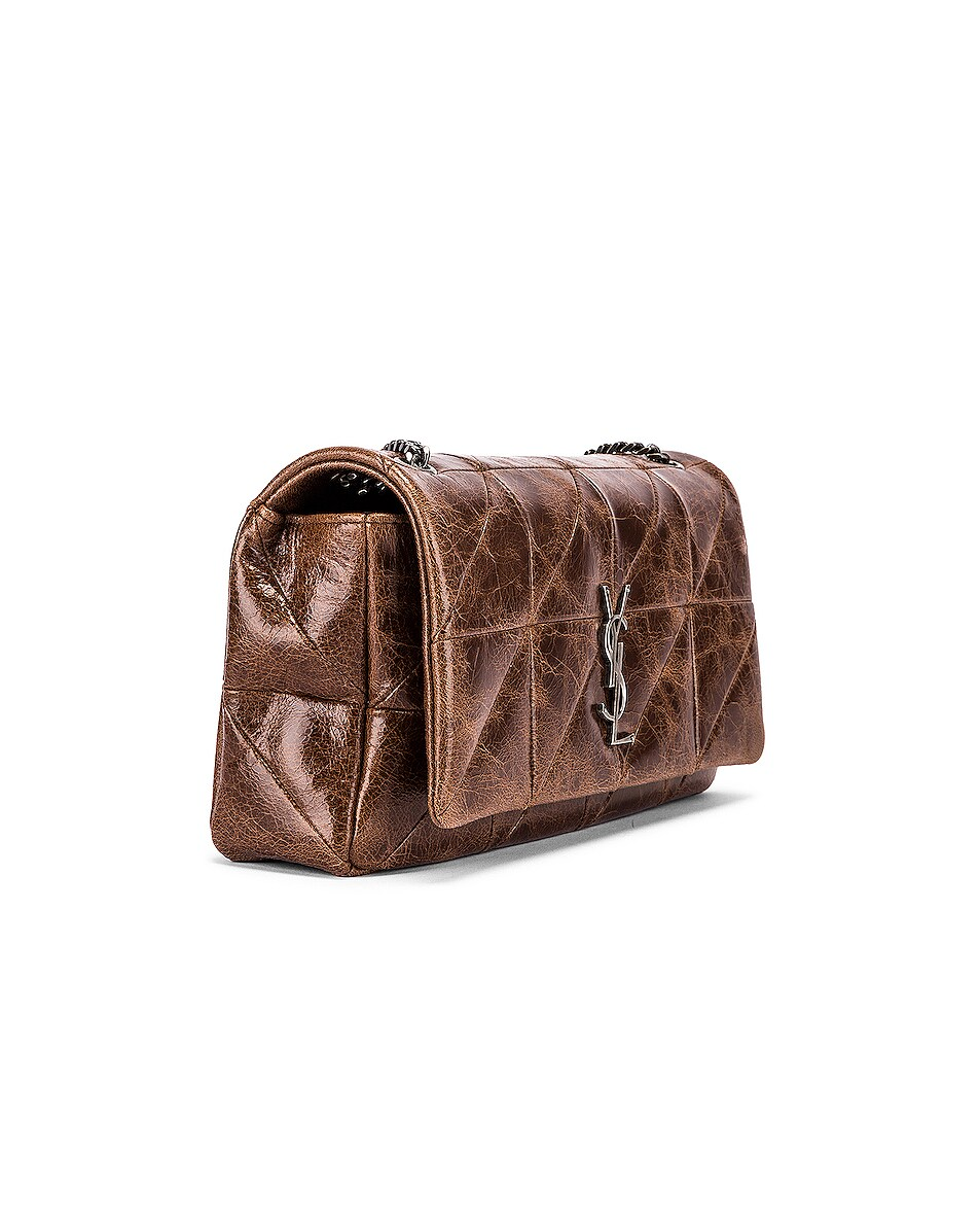 Image 4 of Saint Laurent Medium Monogramme Jamie Chain Bag in Dark Chestnut