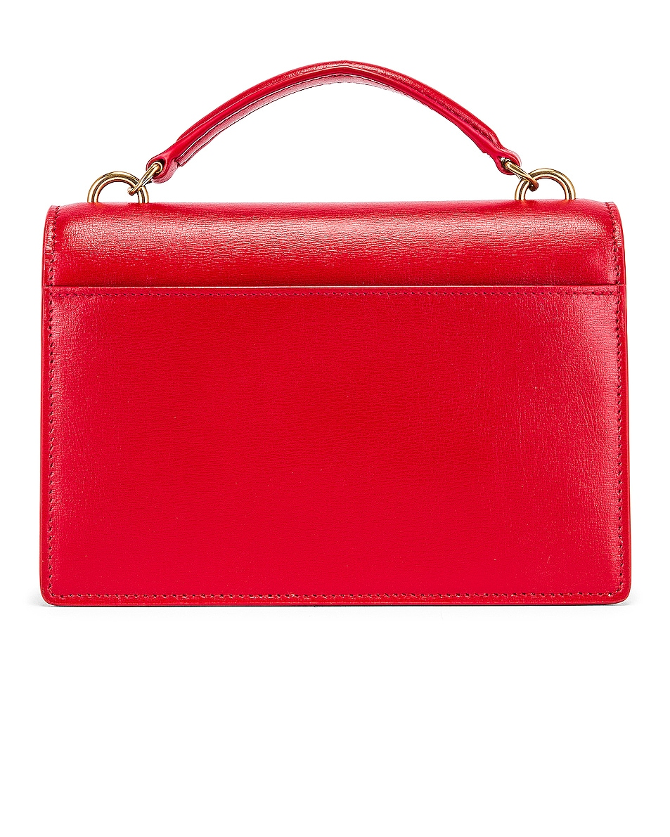 Image 3 of Saint Laurent Sunset Monogramme Crossbody Bag in Red