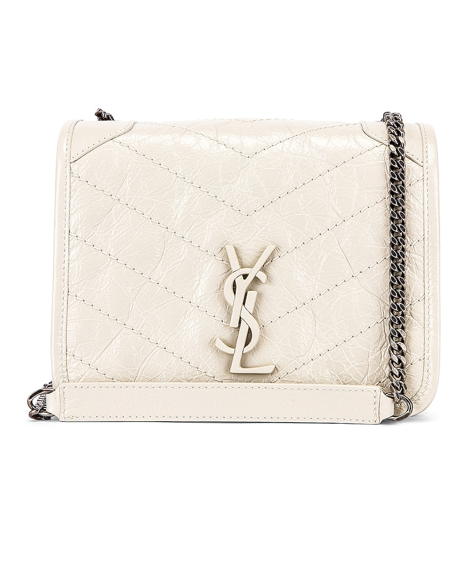 Image 1 of Saint Laurent Niki Wallet Chain Bag in Crema Soft