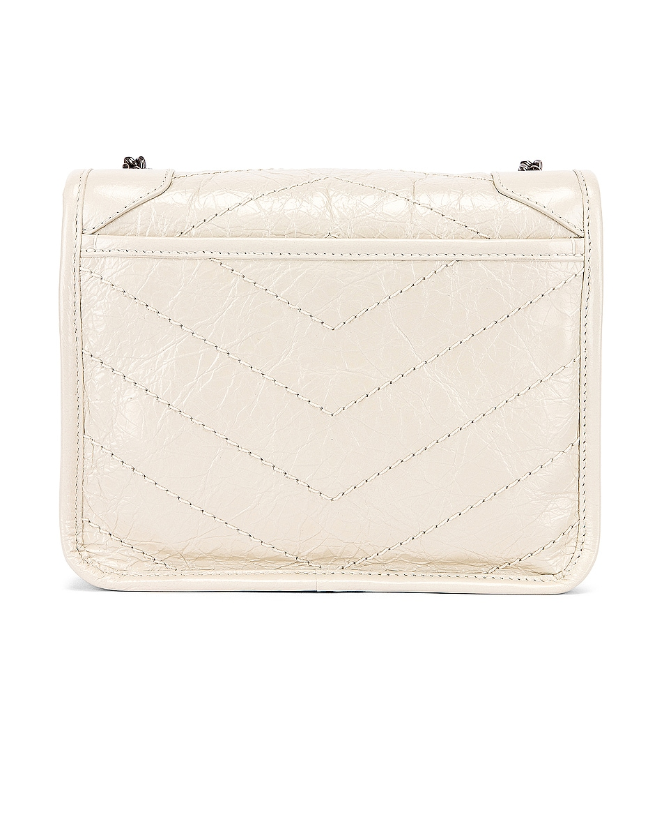 Image 3 of Saint Laurent Niki Wallet Chain Bag in Crema Soft