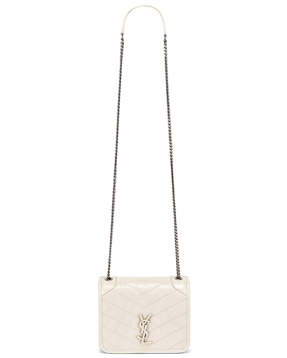 Image 6 of Saint Laurent Niki Wallet Chain Bag in Crema Soft