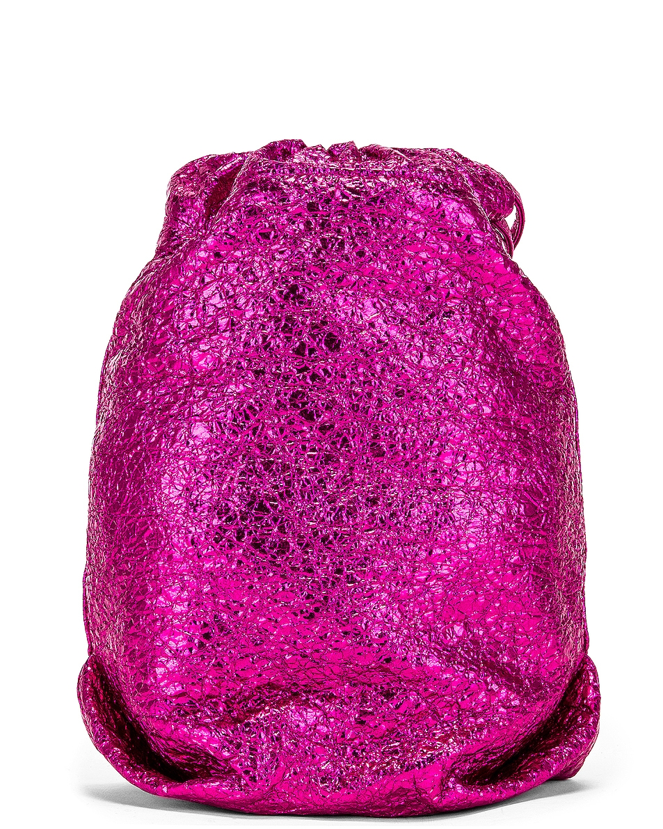 Image 3 of Saint Laurent Teddy Pouch Chain Bag in Fuchsia & Black