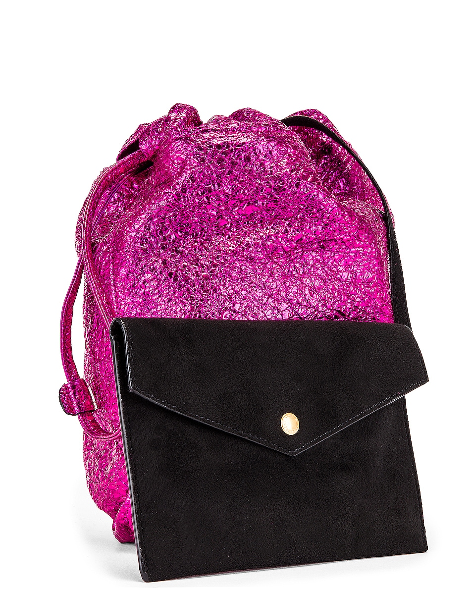 Image 4 of Saint Laurent Teddy Pouch Chain Bag in Fuchsia & Black