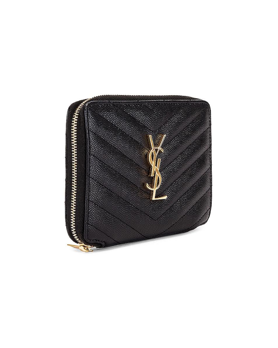 Image 3 of Saint Laurent Medium Zip Around Wallet in Black
