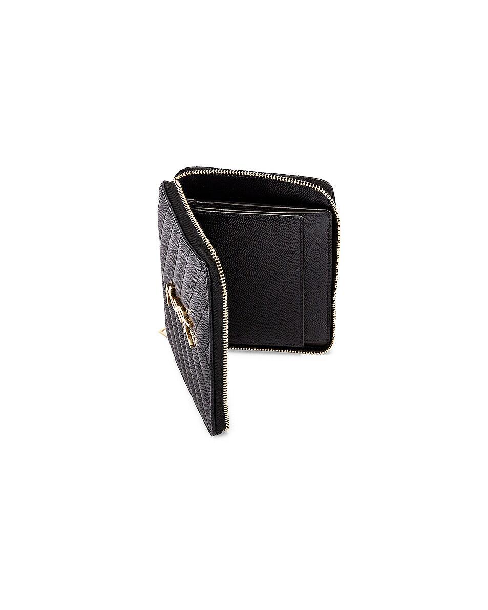 Image 4 of Saint Laurent Medium Zip Around Wallet in Black
