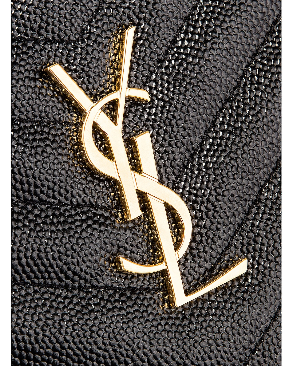 Image 6 of Saint Laurent Medium Zip Around Wallet in Black