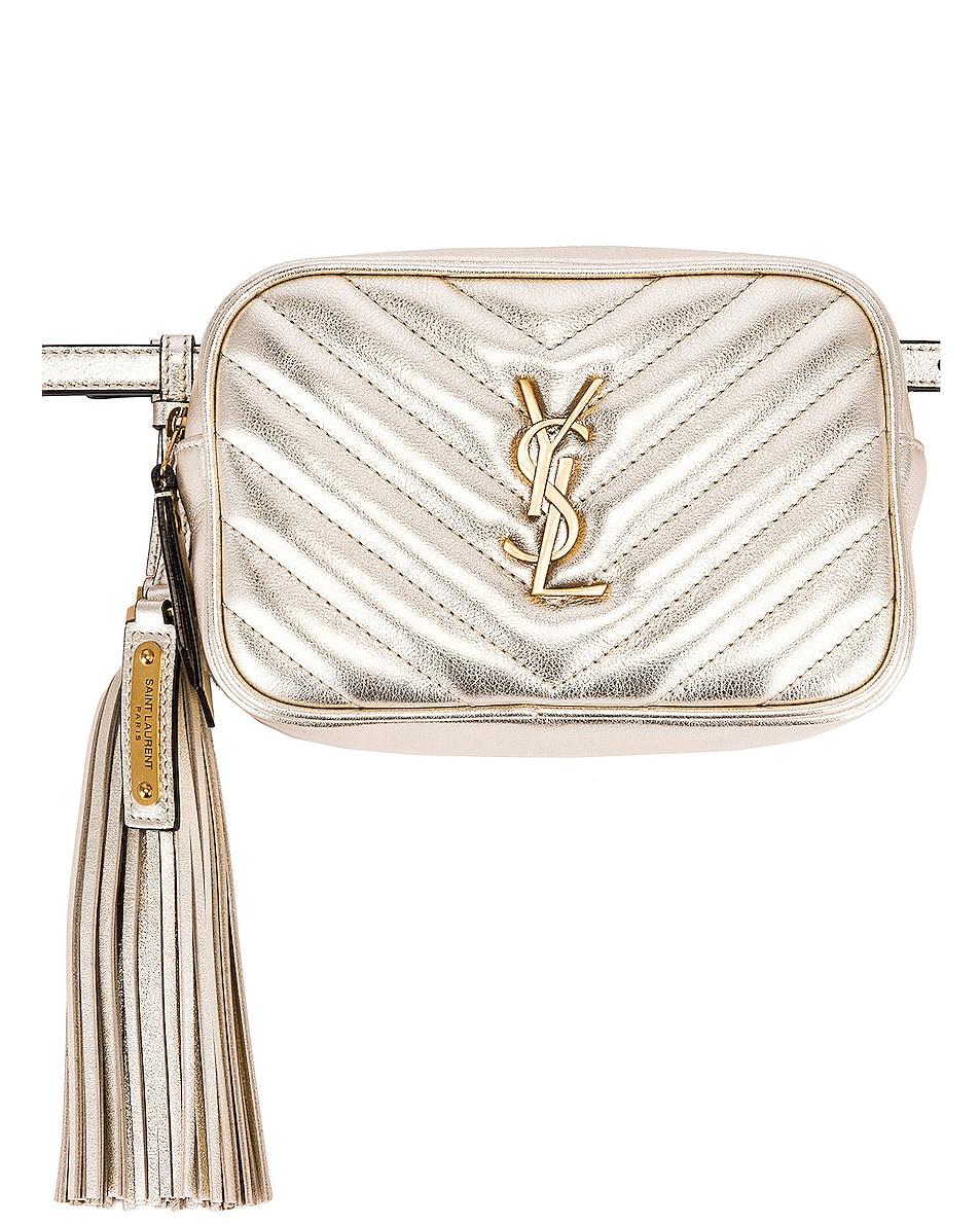Image 1 of Saint Laurent Lou Monogramme Leather Belt Bag in Platino