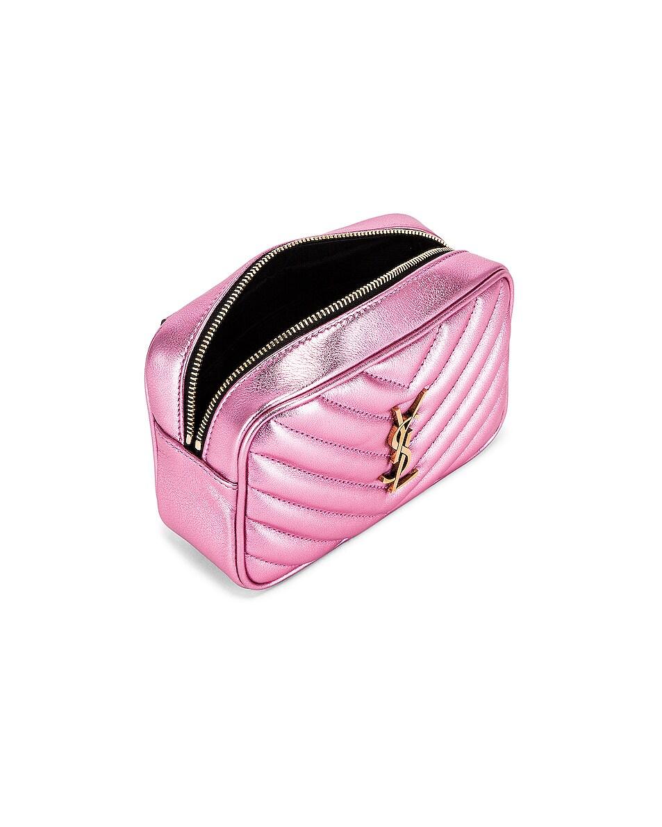 Image 5 of Saint Laurent Lou Monogramme Leather Belt Bag in Vegas Pink