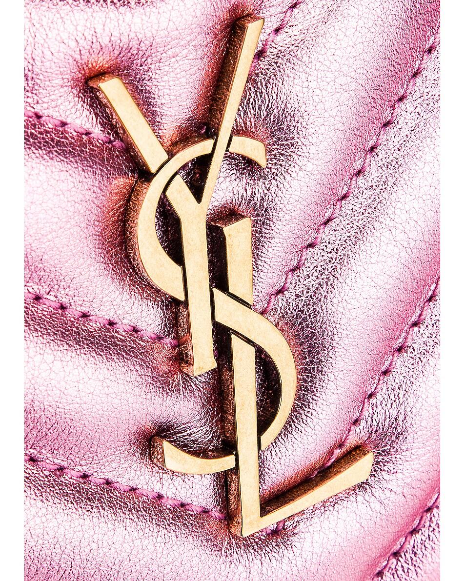 Image 7 of Saint Laurent Lou Monogramme Leather Belt Bag in Vegas Pink