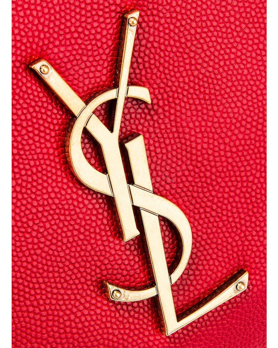 Image 7 of Saint Laurent Classic Leather Monogramme Belt Bag in Red
