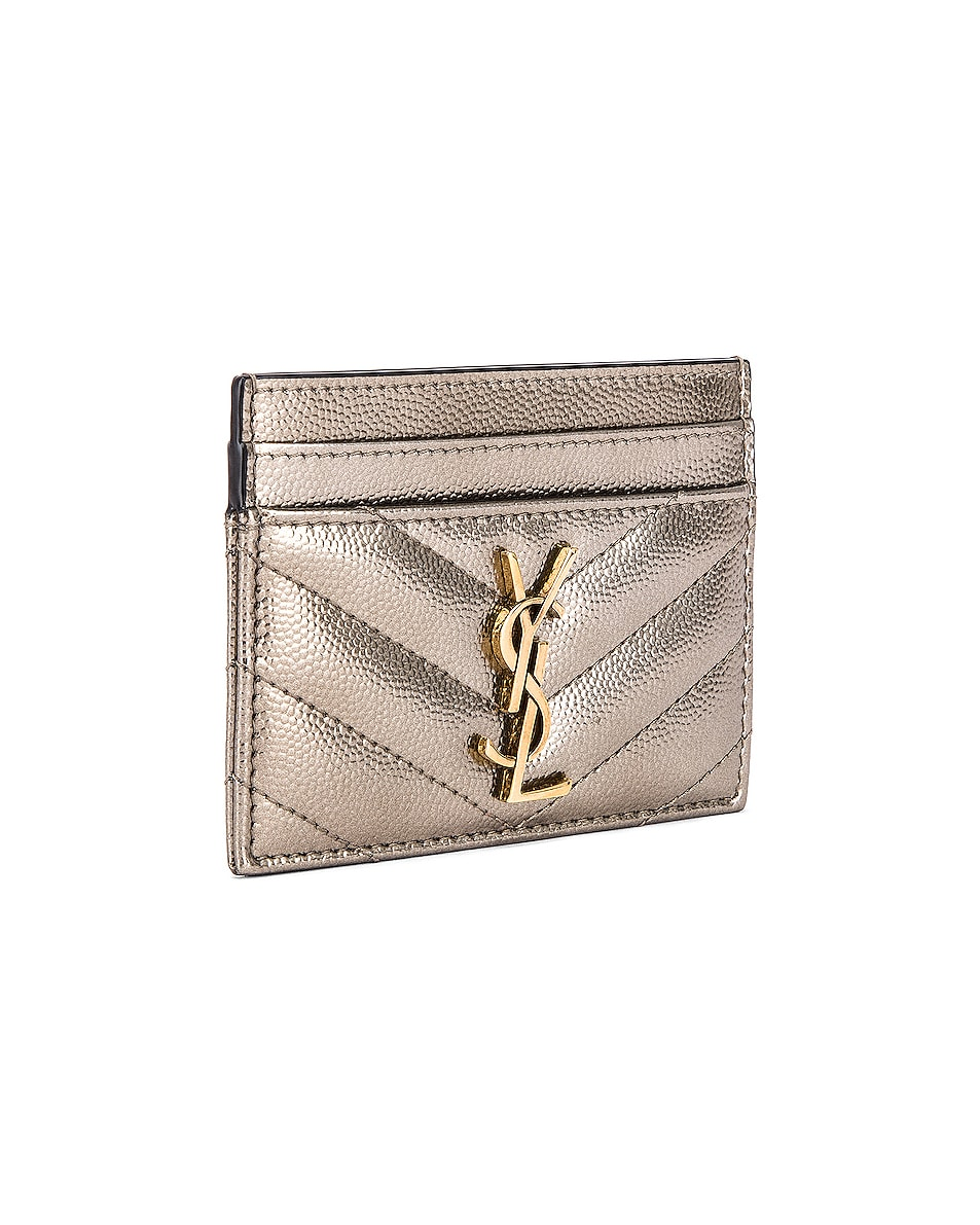 Image 3 of Saint Laurent Monogramme Card Case in Piombo