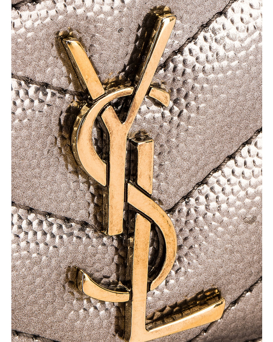 Image 6 of Saint Laurent Monogramme Card Case in Piombo