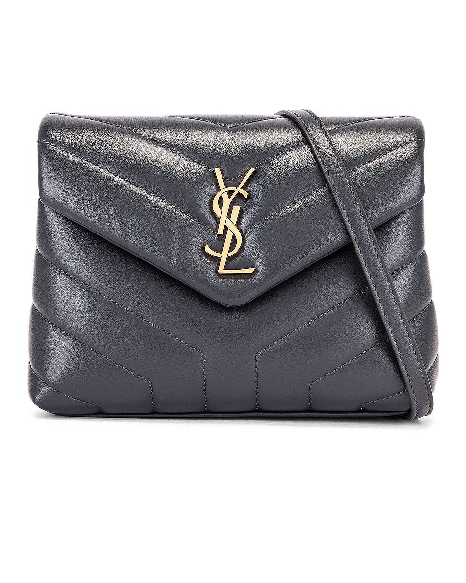 Image 1 of Saint Laurent Toy Supple Monogramme Loulou Strap Bag in Dark Smog