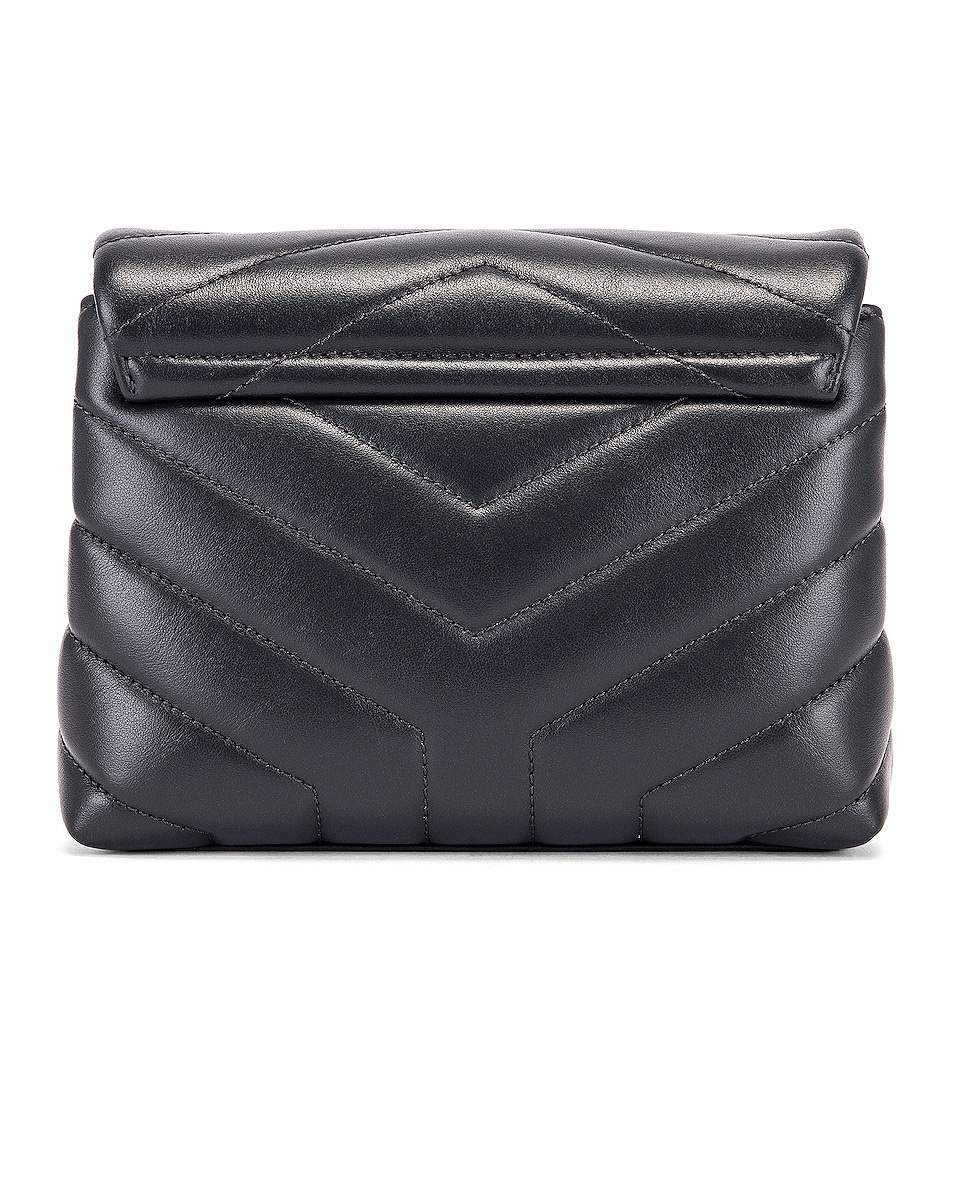 Image 3 of Saint Laurent Toy Supple Monogramme Loulou Strap Bag in Dark Smog