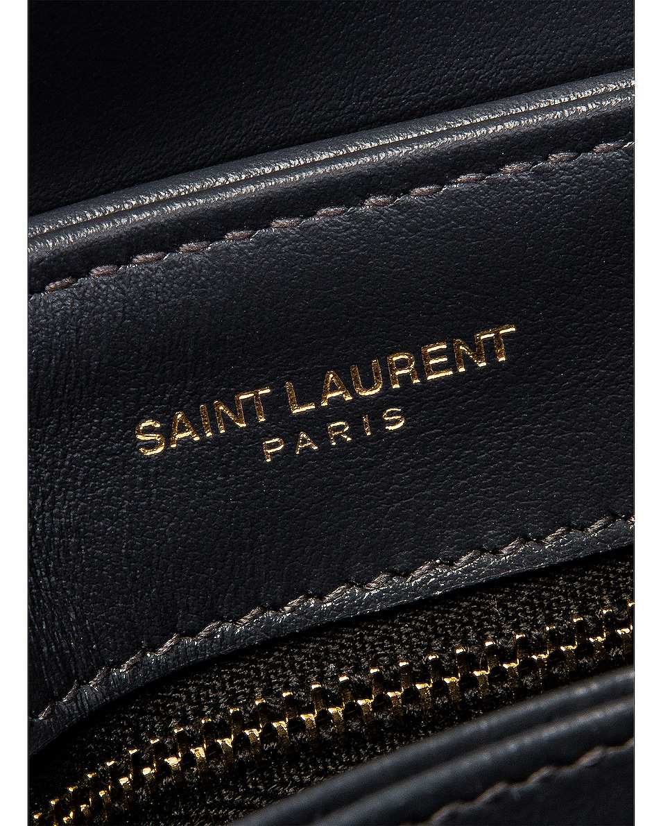 Image 7 of Saint Laurent Toy Supple Monogramme Loulou Strap Bag in Dark Smog