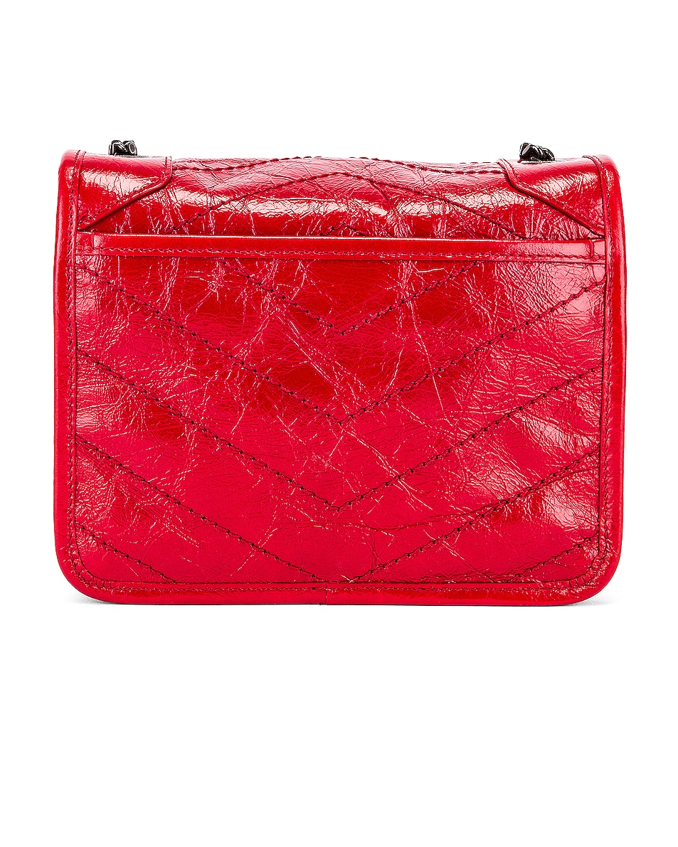 Image 3 of Saint Laurent Niki Wallet Chain Bag in Red