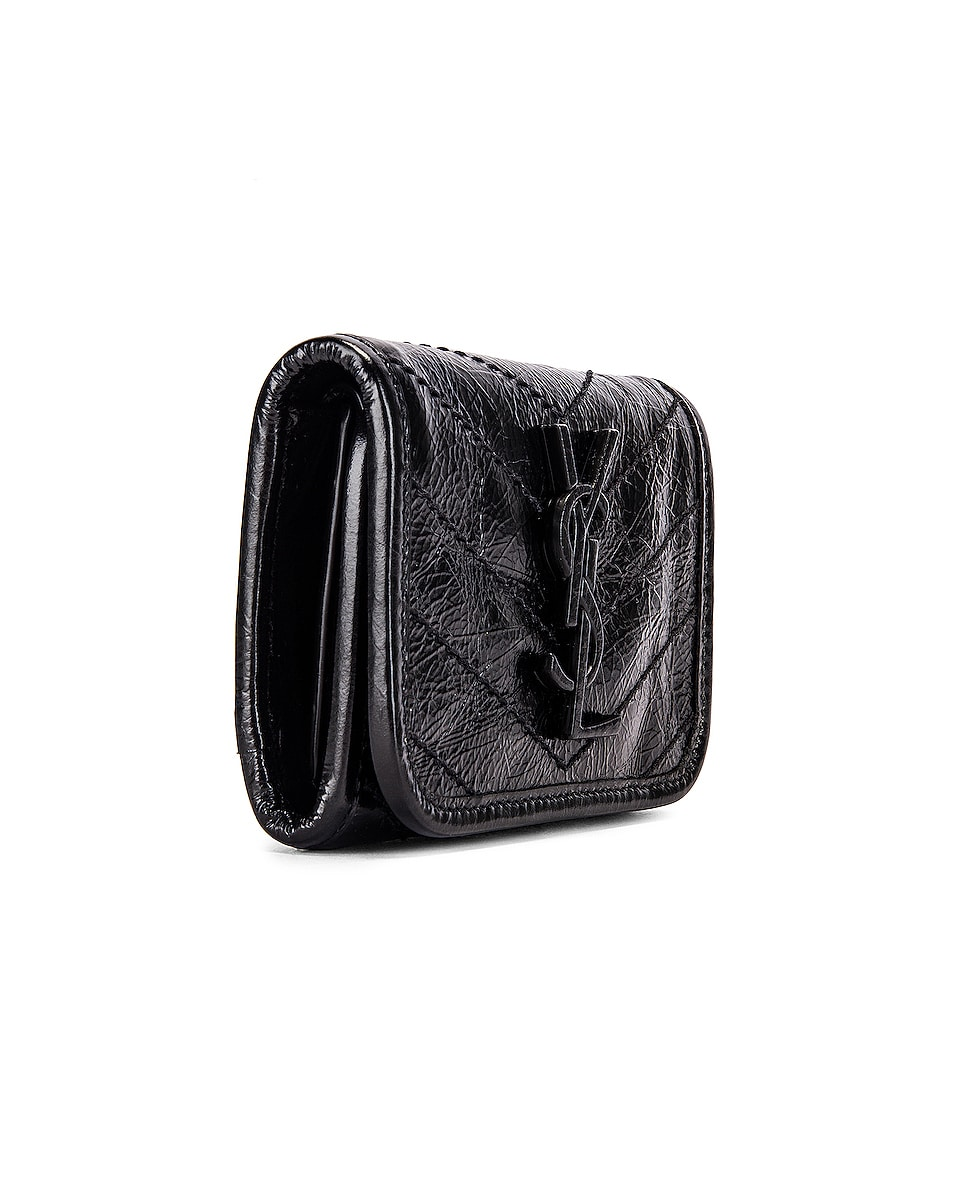 Image 3 of Saint Laurent Niki Credit Card Wallet in Black