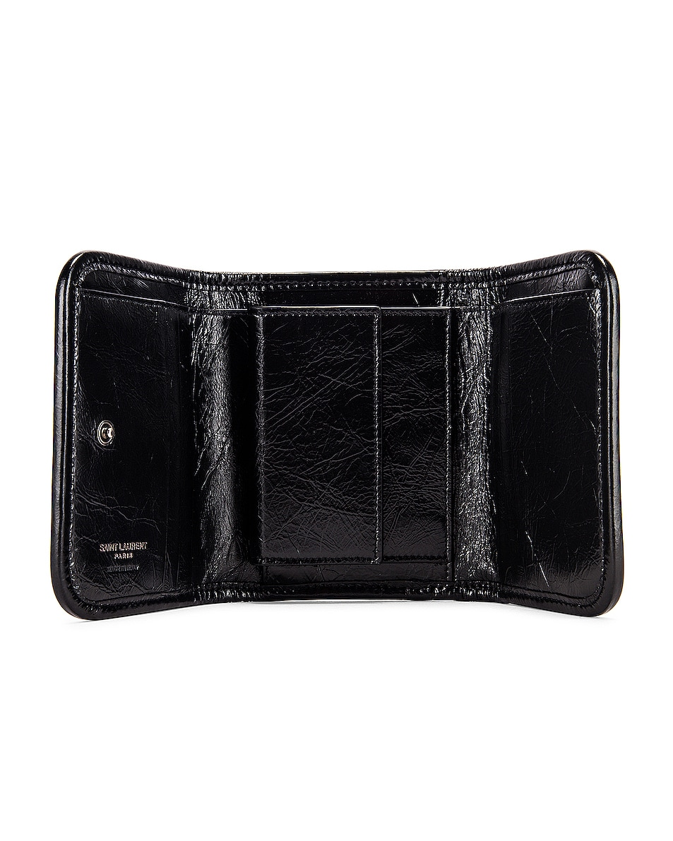 Image 4 of Saint Laurent Niki Credit Card Wallet in Black