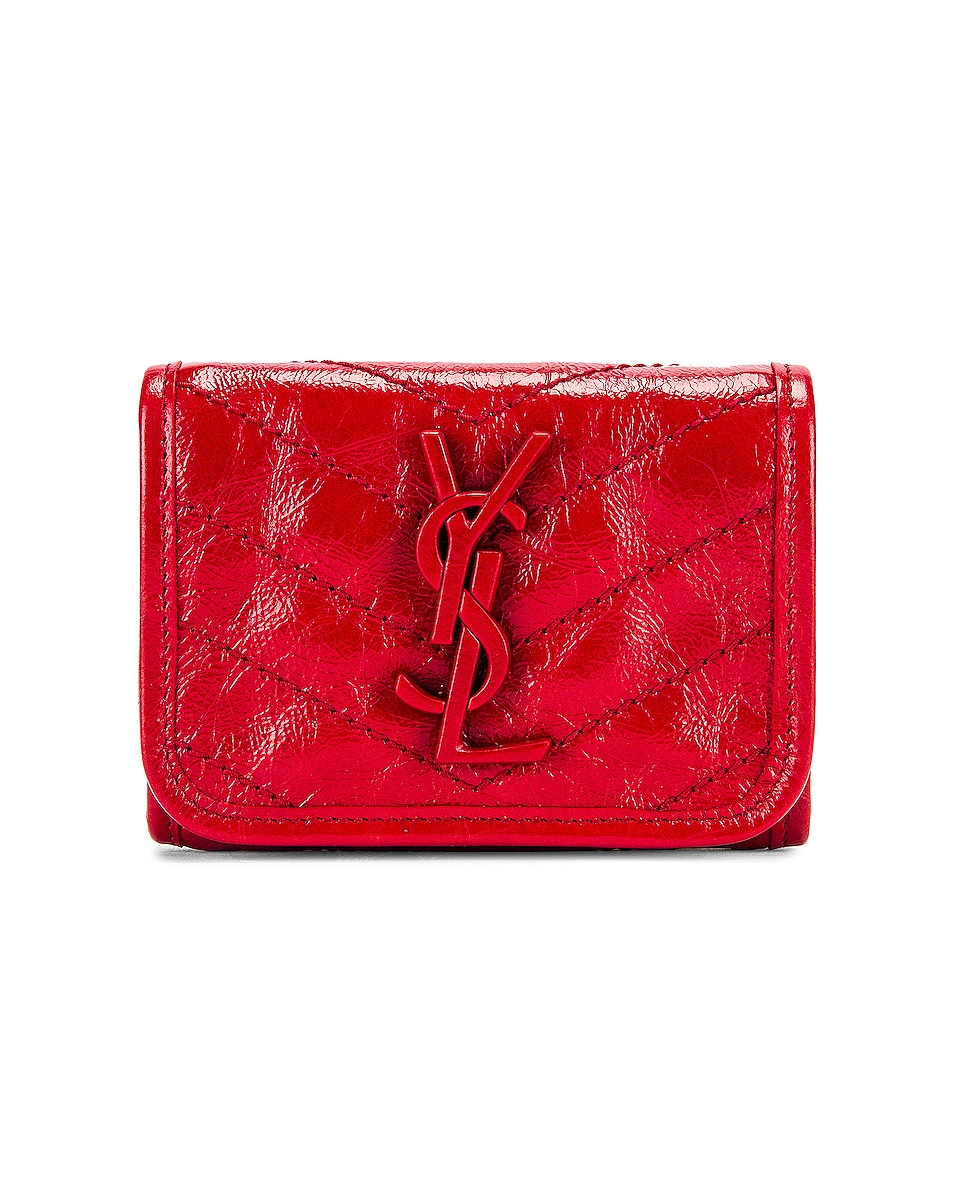 Image 1 of Saint Laurent Niki Credit Card Wallet in Red