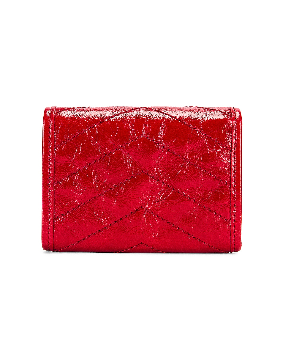Image 2 of Saint Laurent Niki Credit Card Wallet in Red