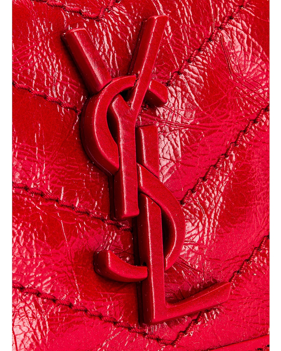 Image 6 of Saint Laurent Niki Credit Card Wallet in Red
