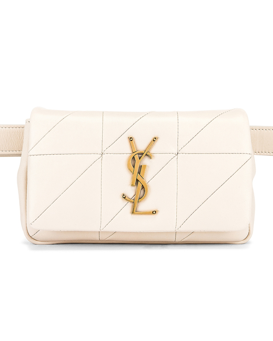 Image 1 of Saint Laurent Jamie Leather Belt Bag in Crema Soft