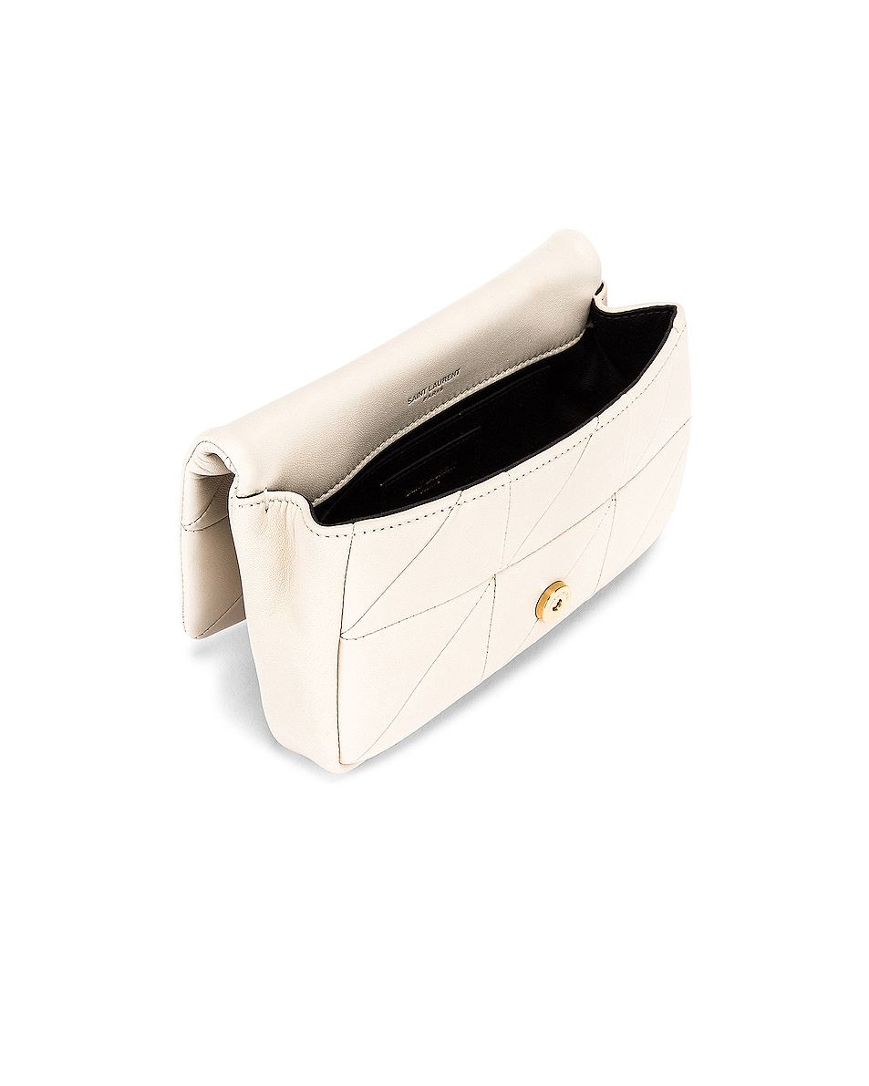 Image 5 of Saint Laurent Jamie Leather Belt Bag in Crema Soft