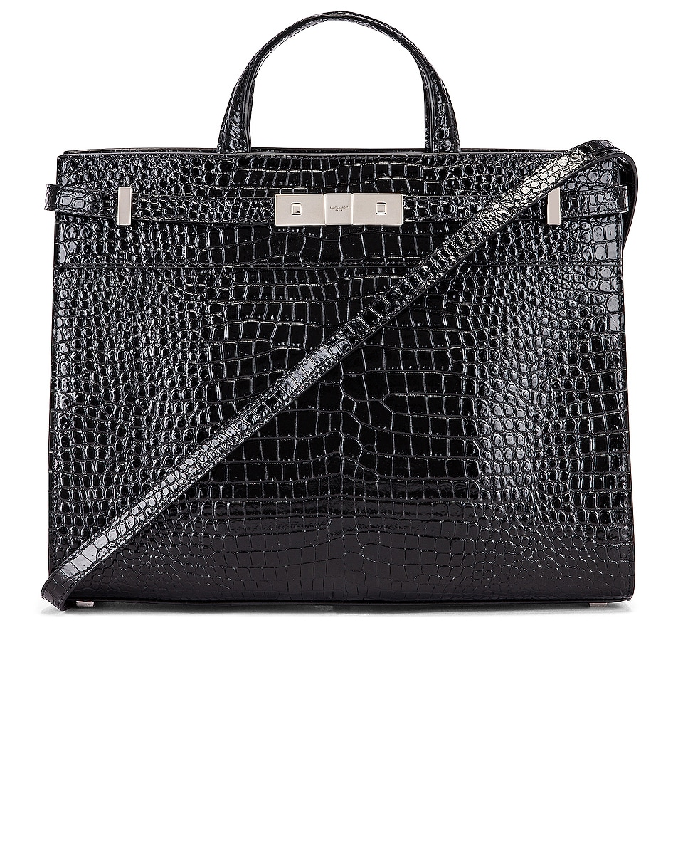 Image 1 of Saint Laurent Manhattan Shoulder Bag in Black