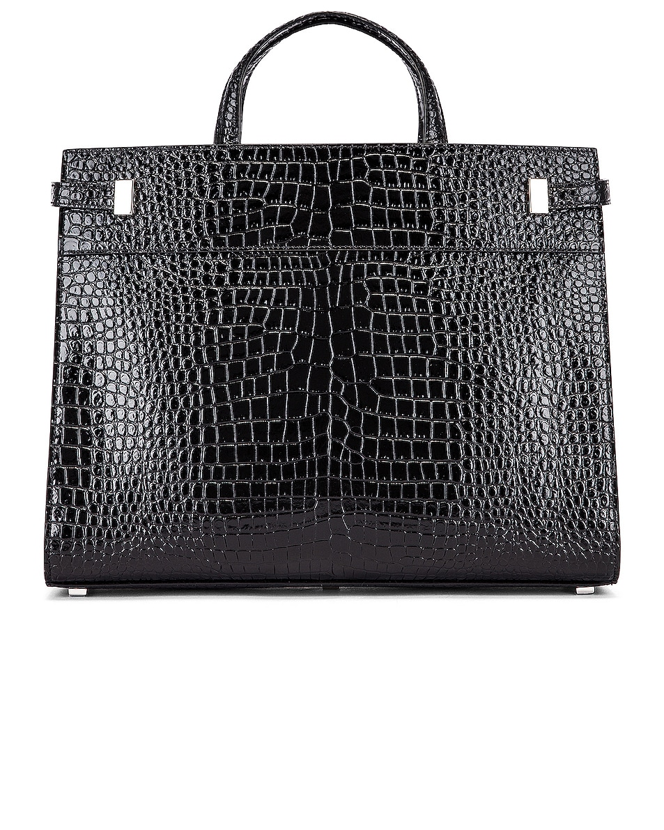 Image 3 of Saint Laurent Manhattan Shoulder Bag in Black
