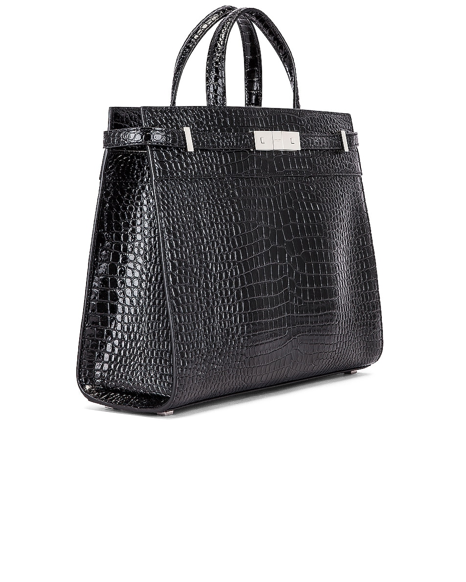 Image 4 of Saint Laurent Manhattan Shoulder Bag in Black