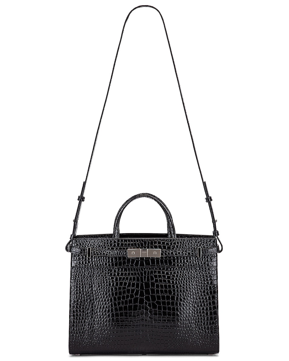 Image 6 of Saint Laurent Manhattan Shoulder Bag in Black