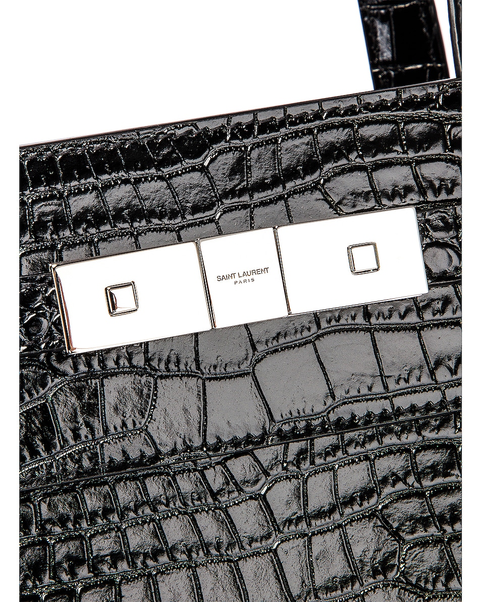 Image 8 of Saint Laurent Manhattan Shoulder Bag in Black