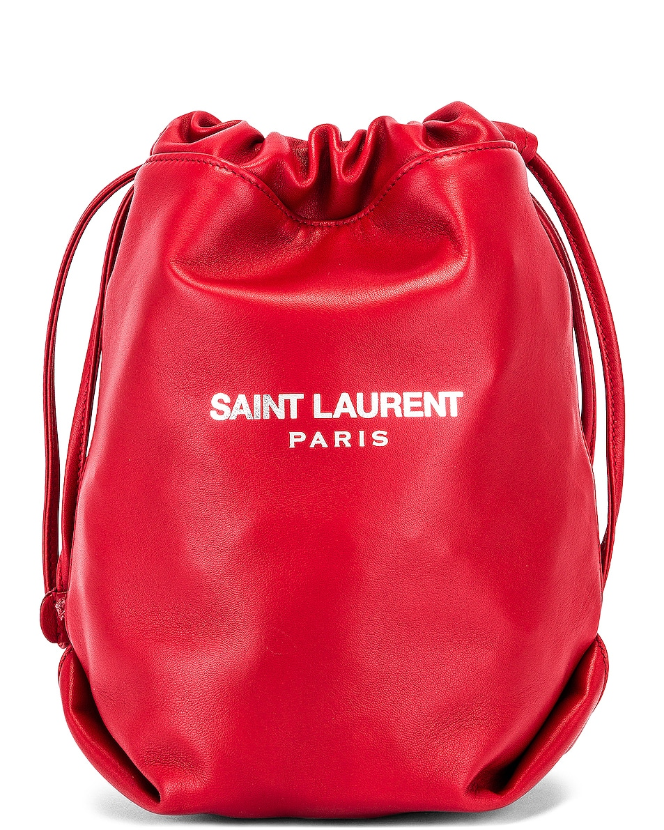 Image 1 of Saint Laurent Teddy Pouch Chain Bag in Red