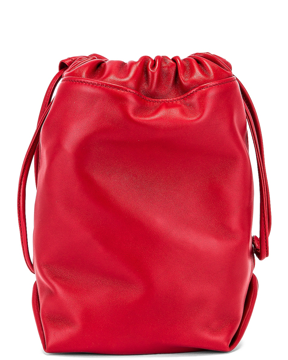 Image 2 of Saint Laurent Teddy Pouch Chain Bag in Red