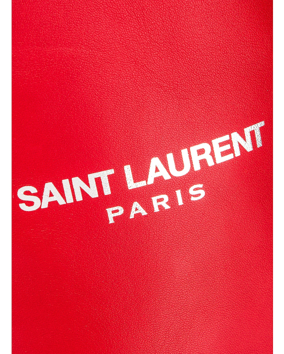 Image 6 of Saint Laurent Teddy Pouch Chain Bag in Red