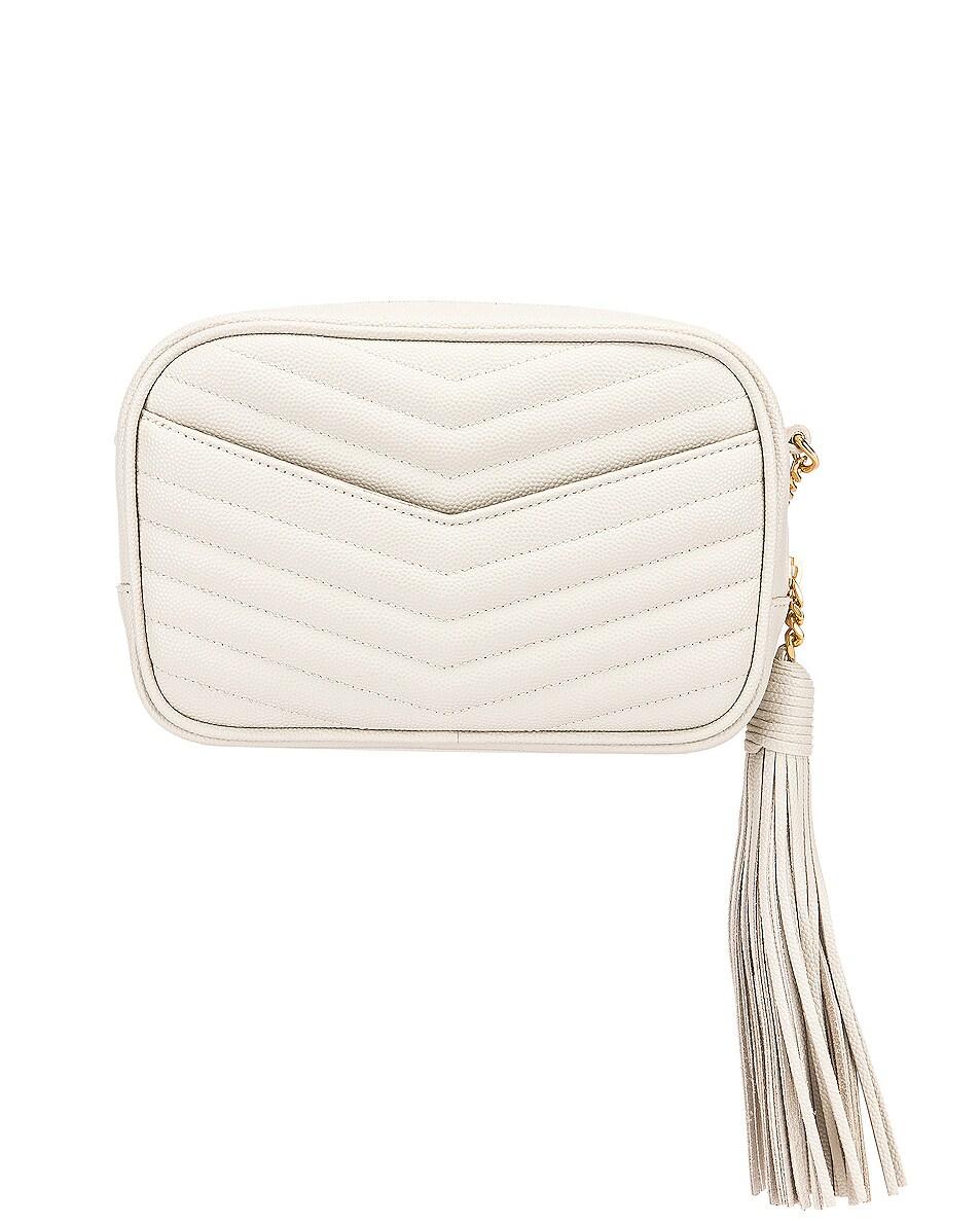 Image 3 of Saint Laurent Leather Monogramme Mini Lou Crossbody Bag in Crema Soft