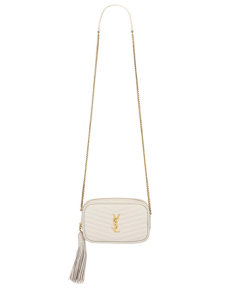 Image 6 of Saint Laurent Leather Monogramme Mini Lou Crossbody Bag in Crema Soft