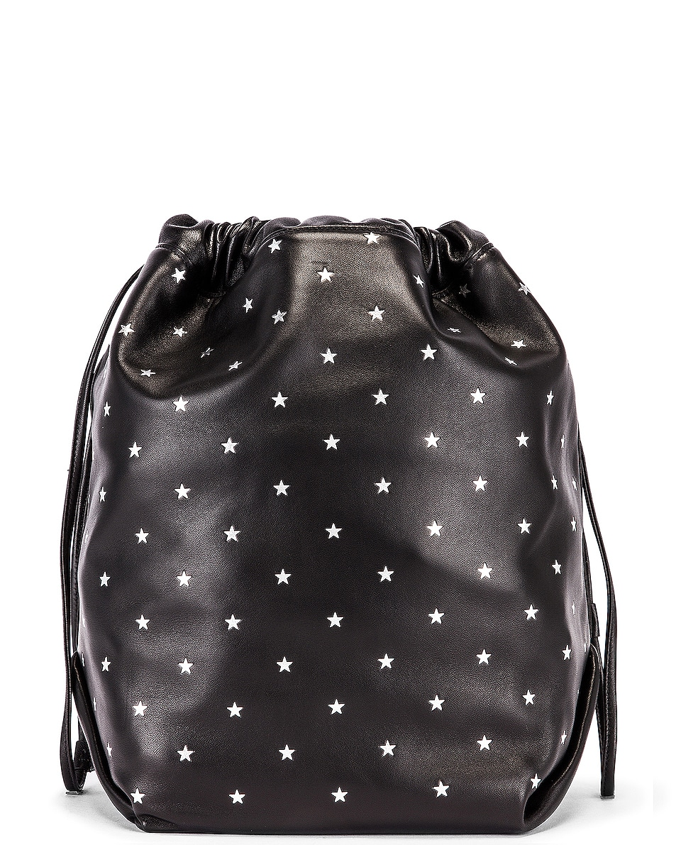 Image 3 of Saint Laurent Star Teddy Pouch Chain Bag in Black & Silver