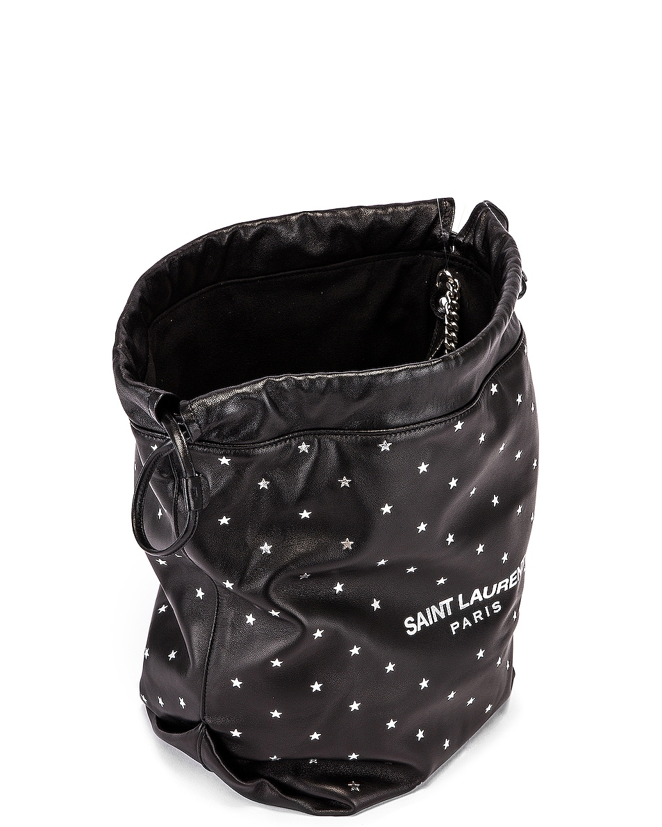 Image 5 of Saint Laurent Star Teddy Pouch Chain Bag in Black & Silver